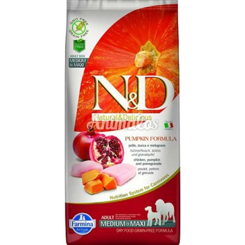 נטורל אנד דלישס ללא דגנים עוף ודלעת 12 ק''ג N&D