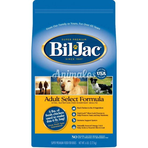 ביל ג'ק כלב בוגר סלקט 13.6 ק''ג Bil-jac Adult Select