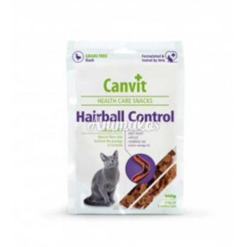 קנוויט חטיף היפואלרגני למניעת הצטברות שיער אצל חתולים canvit hairball control for cats