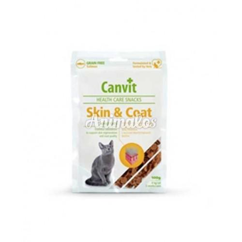 קנוויט חטיף היפואלרגני עור ופרווה לחתולים canvit skin & coat grian free for cats