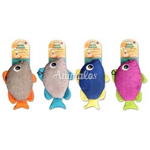 צעצוע בובה לכלב דג מצפצף ומרשרש