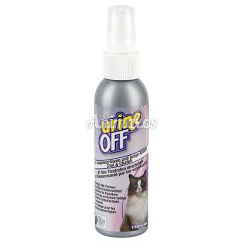 יורין אוף 118 מ''ל לחתולים מנטרל ריחות מבדים ושטיחים/urine off