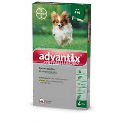 אמפולות אדוונטיקס לכלב עד 4 ק''ג Advantix