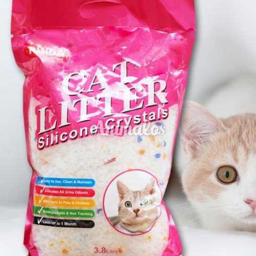חול קריסטל לחתול 8 שקיות של 3.6 ליטר