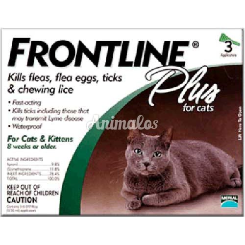 אמפולות פרונטליין פלוס לחתול 3 Frontline Plus