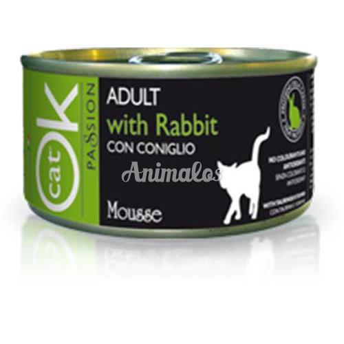 מעדן אוקי מוס ארנבת לחתול 85 גרם