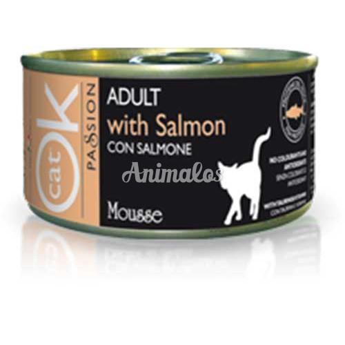 מעדן אוקי מוס סלמון לחתולים 85 גרם
