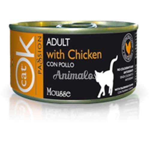 מעדן אוקי מוס עוף לחתולים 85 גרם