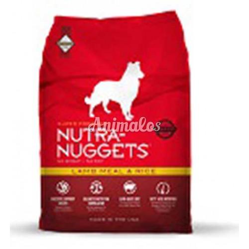 נוטרה נאגטס כבש ואורז 15 ק''ג NUTRA NUGGETS