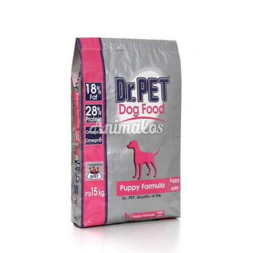 דר פט מזון יבש לגורי כלבים 15 ק''ג