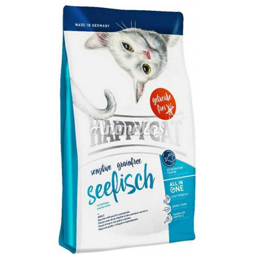 הפי קט סנסטיב דגים לחתול בוגר 4 ק''ג HAPPY CAT