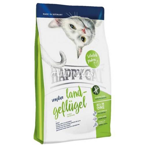 הפי קט סנסטיב עוף לחתול בוגר 4 ק''ג HAPPY CAT