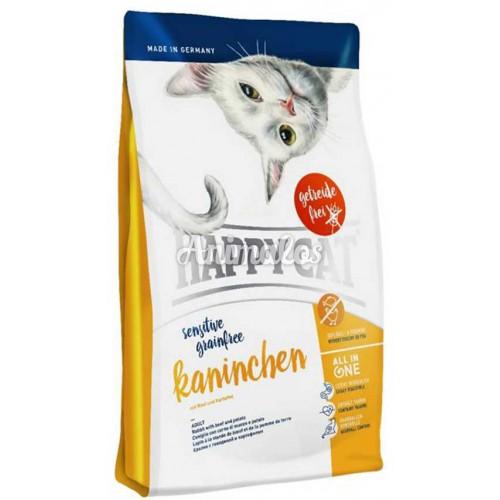 הפי קט סנסטיב ארנב לחתול בוגר 4 ק''ג HAPPY CAT
