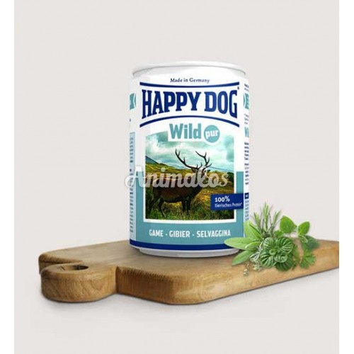 שימורים הפי דוג בשר צייד 440 גרם HAPPY DOG