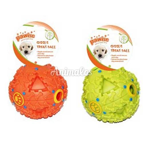 """צעצוע לכלבים pawise כדור עם צלילים 7ס""""מ"""