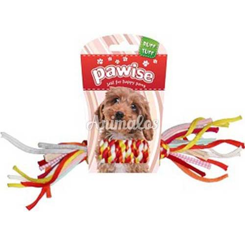 """צעצוע לכלבים pawise חבל קלוע צבעוני 28ס""""מ"""