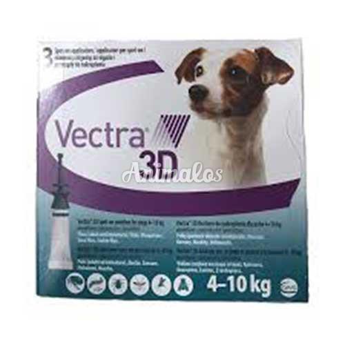 """אמפולות וקטרה נגד פרעושים וקרציות לכלבים במשקל 4-10 ק""""ג vectra"""