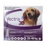 """אמפולות וקטרה נגד פרעושים וקרציות לכלבים במשקל 25-40 ק""""ג vectra"""