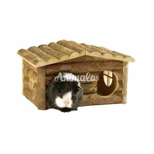 בית עשוי עץ מכרסמים קטנים ליווינג וורלד Living World Tree House Log