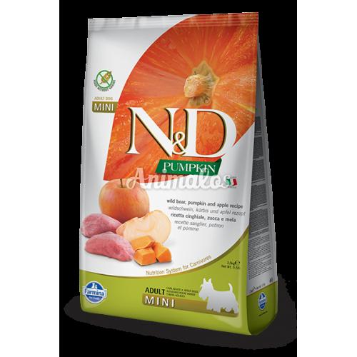 נטורל אנד דלישס ללא דגנים לגזעים קטנים חזיר ותפוח 7 ק''ג N&D