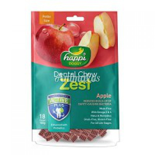 הפי דוגי חטיף דנטלי בטעם תפוח 150 גרם