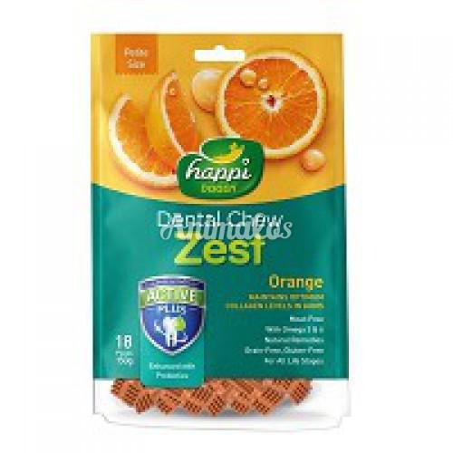 הפי דוגי חטיף דנטלי בטעם תפוז 150 גרם