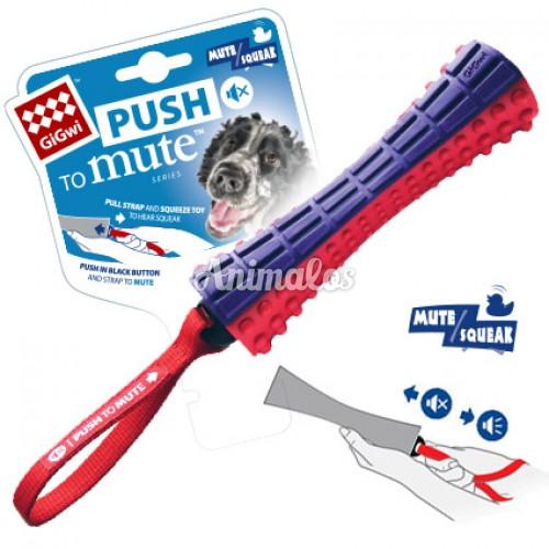 מקל גומי עם צפצפה וידית לכלב