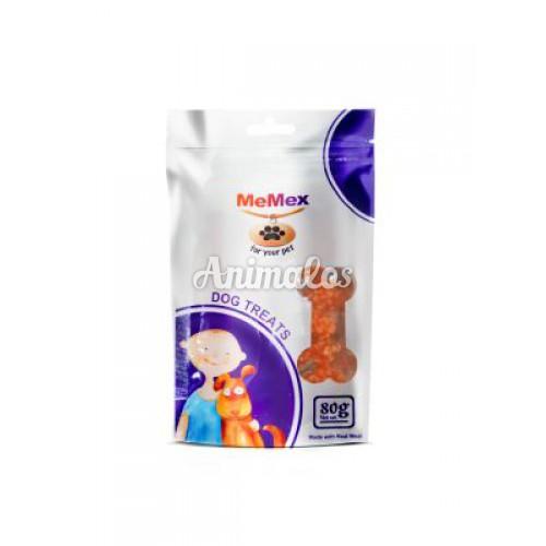 חטיף ממקס לכלב עוף דמבל עם אורז 80 גרם