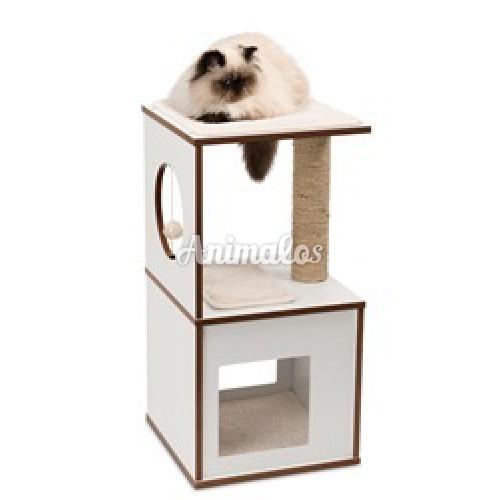 רהיט גירוד V BOX לבן לחתול - Hagen