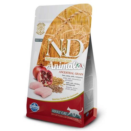 נטורל אנד דלישס חתול עוף ורימון 1.5 ק''ג