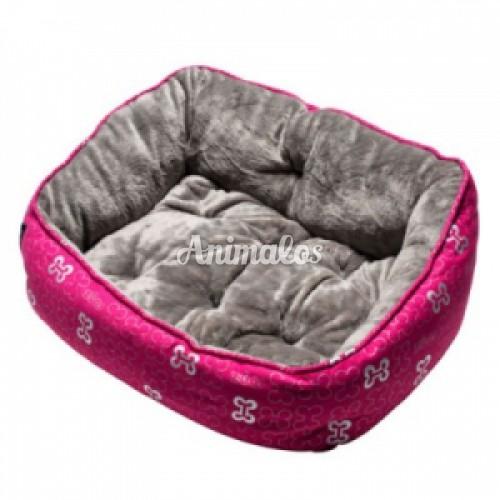 ROGZ - מיטה אופנתית עצמות וורודות מידה סמול לכלב קטן | חתול