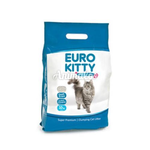 """חול מתגבש לחתולים Euro Kitty יורו קיטי 10 ק""""ג"""