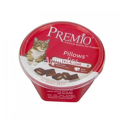 פרמיו חטיף כריות לטיפוח העוד לחתולים 60 גרם